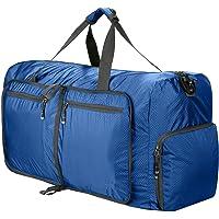 Keelied Faltbare Reisetasche 80 Liter Nylon Sporttasche Multipurpose Weekender Tasche Handgepäck Fitnesstasche Umhängetasche Schultertasche Duffle Bag, 68X26X36cm viele Taschen Farbewahl
