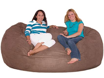 Merveilleux Cozy Sack 7 Feet Bean Bag Chair, X Large, Earth