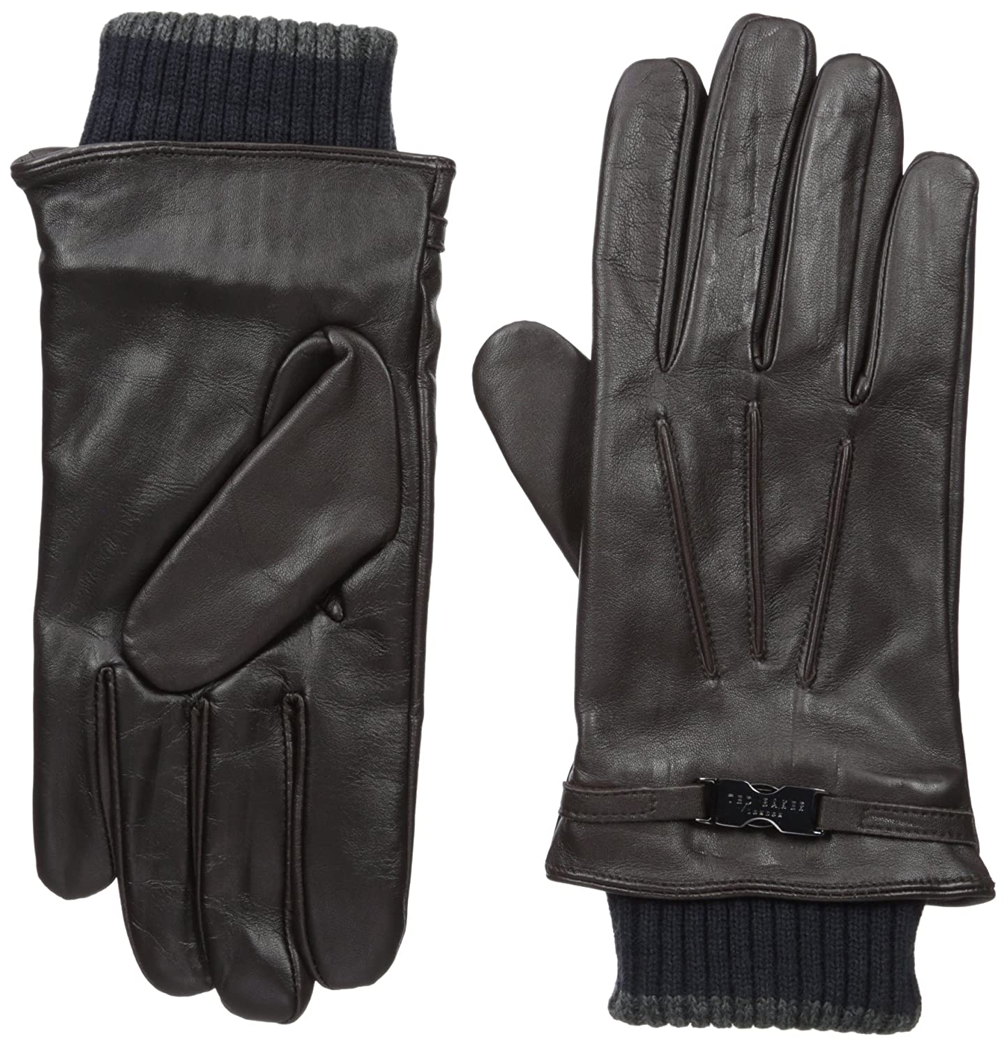 Ted Baker Men's Quiff Ribbed Cuff Leather Glove XA7M-XG07-QUIFF