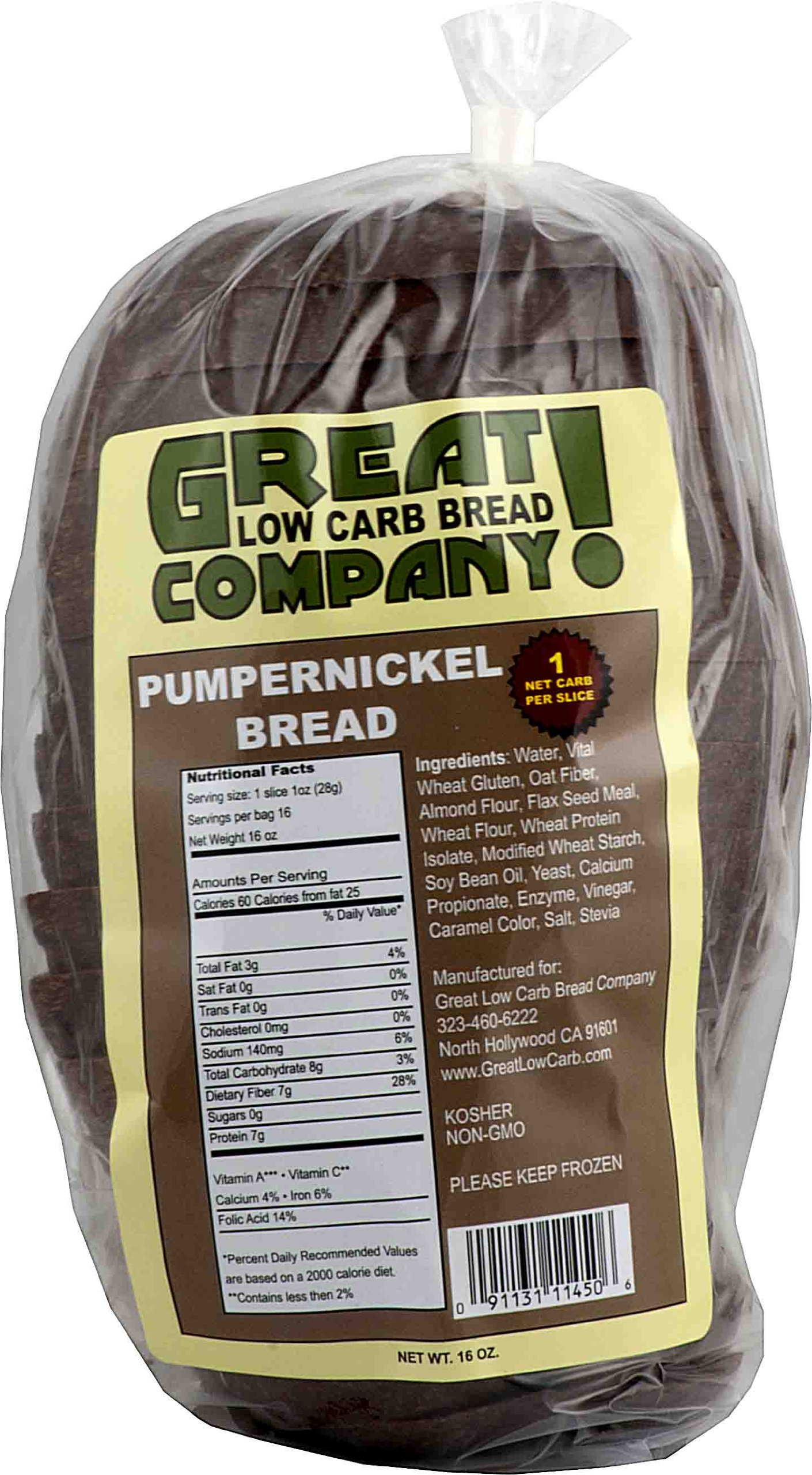 Great Low Carb Bread Co. - Pumpernickel Bread - 3 Bags