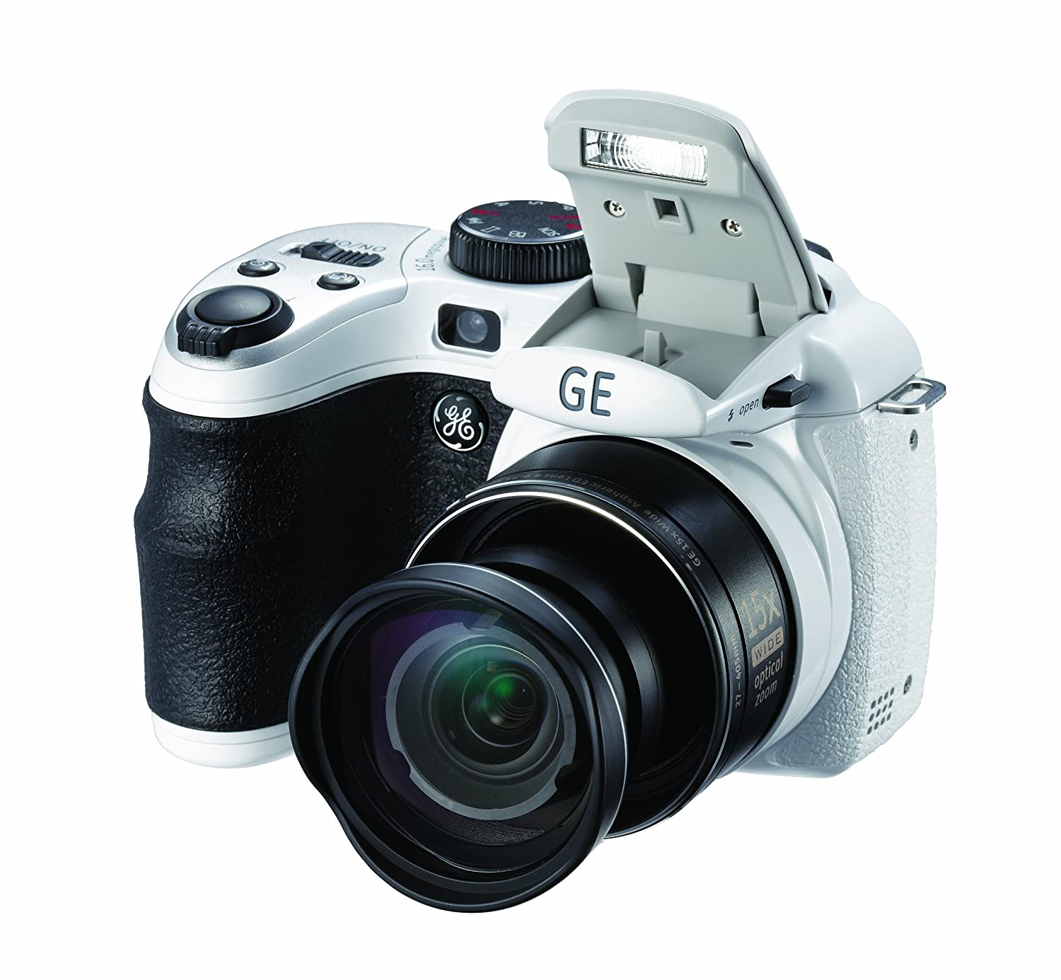 Amazon.com : GE Power Pro X500-WH 16 MP with 15 x Optical Zoom Digital  Camera, White (OLD MODEL) : Point And Shoot Digital Cameras : Camera & Photo