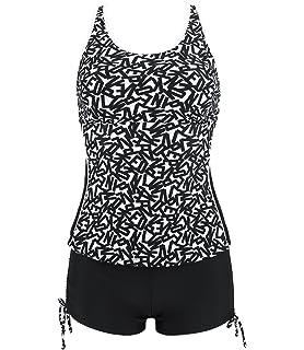 2a993f434a Frauen 50's Vintage Damen Retro Bandeau One Piece Bademode Bikini High  Waist Plus Size Badeanzug Bauchweg