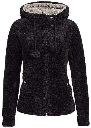 les clients d'abord ramasser site web pour réduction Urban Surface veste polaire teddy pour femme avec oreilles et capuche |  sweat à capuche avec fermeture éclair