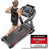 Sportstech TESTSIEGER F37 Profi Laufband 7PS bis 20 km/h, Selbstschmiersystem, Smartphone Fitness App, 15% Steigung, Bluetooth MP3, Große Lauffläche mit 8 Zonen Dämpfungssystem bis 150 Kg - klappbar