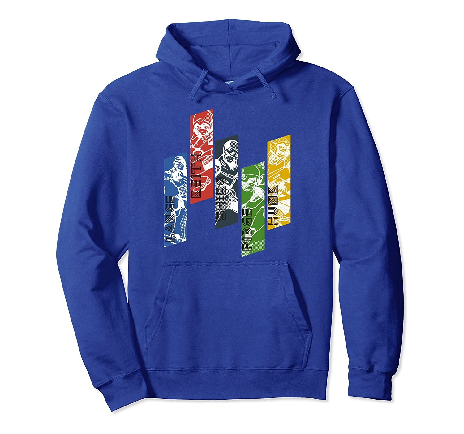 Voltron Legendary Defender 5 Lions with Names Hoodie-Newstyleth
