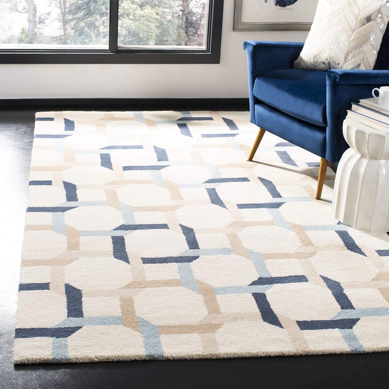 Amazon Com Safavieh Martha Stewart Collection Msr4563b Handmade Color Chain Wool Area Rug 8 X 10 Zinc Furniture Decor