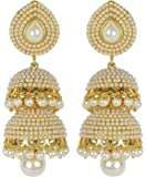 Royal Bling Traditional Gold Plated Brass Jhumka/Jhumki Earrings For Women & Girls