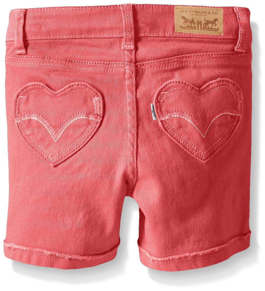 Levi's Toddler Girls' Summer Love Shorty Shorts, Claret Red, 3T