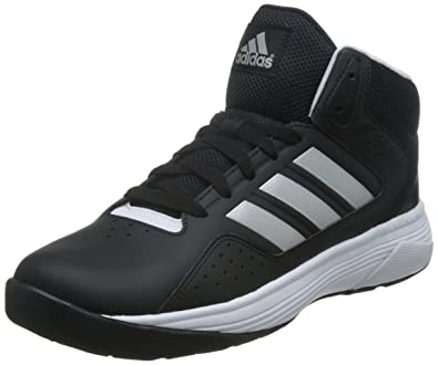 fce7598fcea5a1 ... discount code for adidas neo mens cloudfoam ilation mid cblack msilve  and ftwwht leather basketball shoes