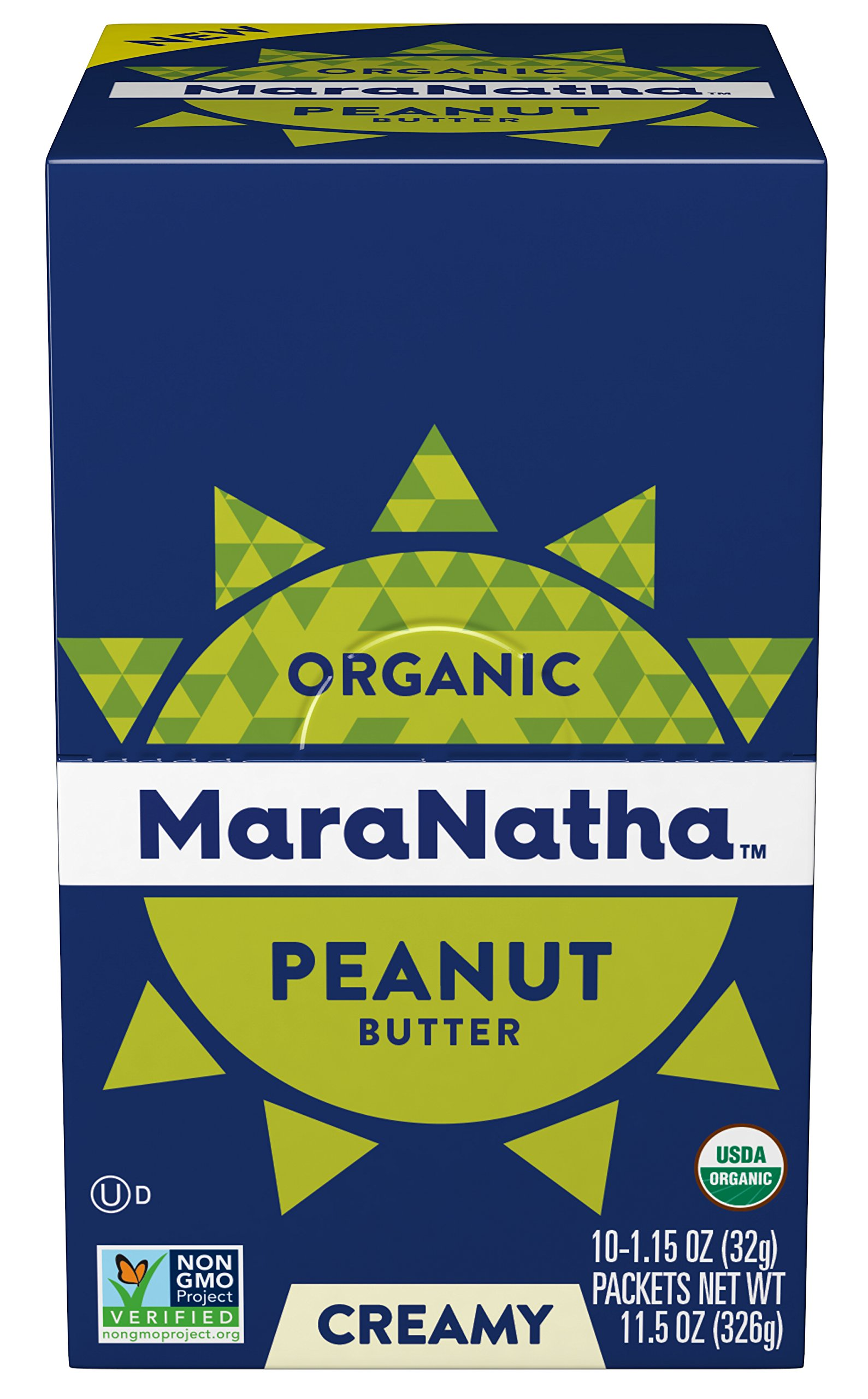 Maranatha No Stir Peanut Butter Packets, 10 Count (Pack of 6) by Maranatha Nut Butters