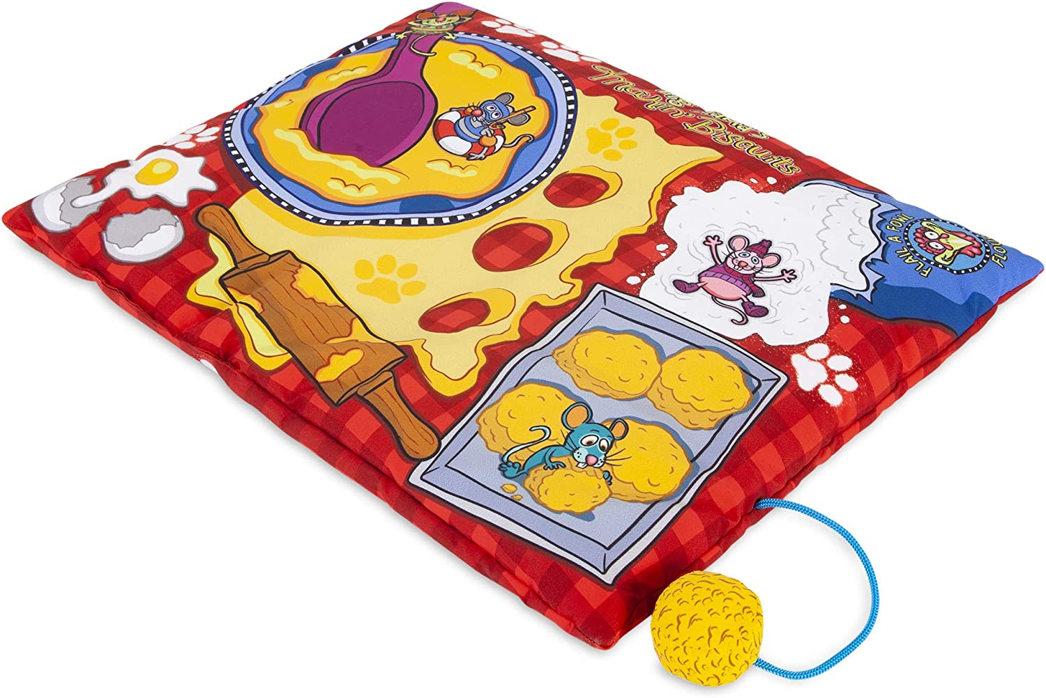 7. Fat Cat Big Mama's Makin' Biscuits Boogie Mat Cat Toy with Catnip