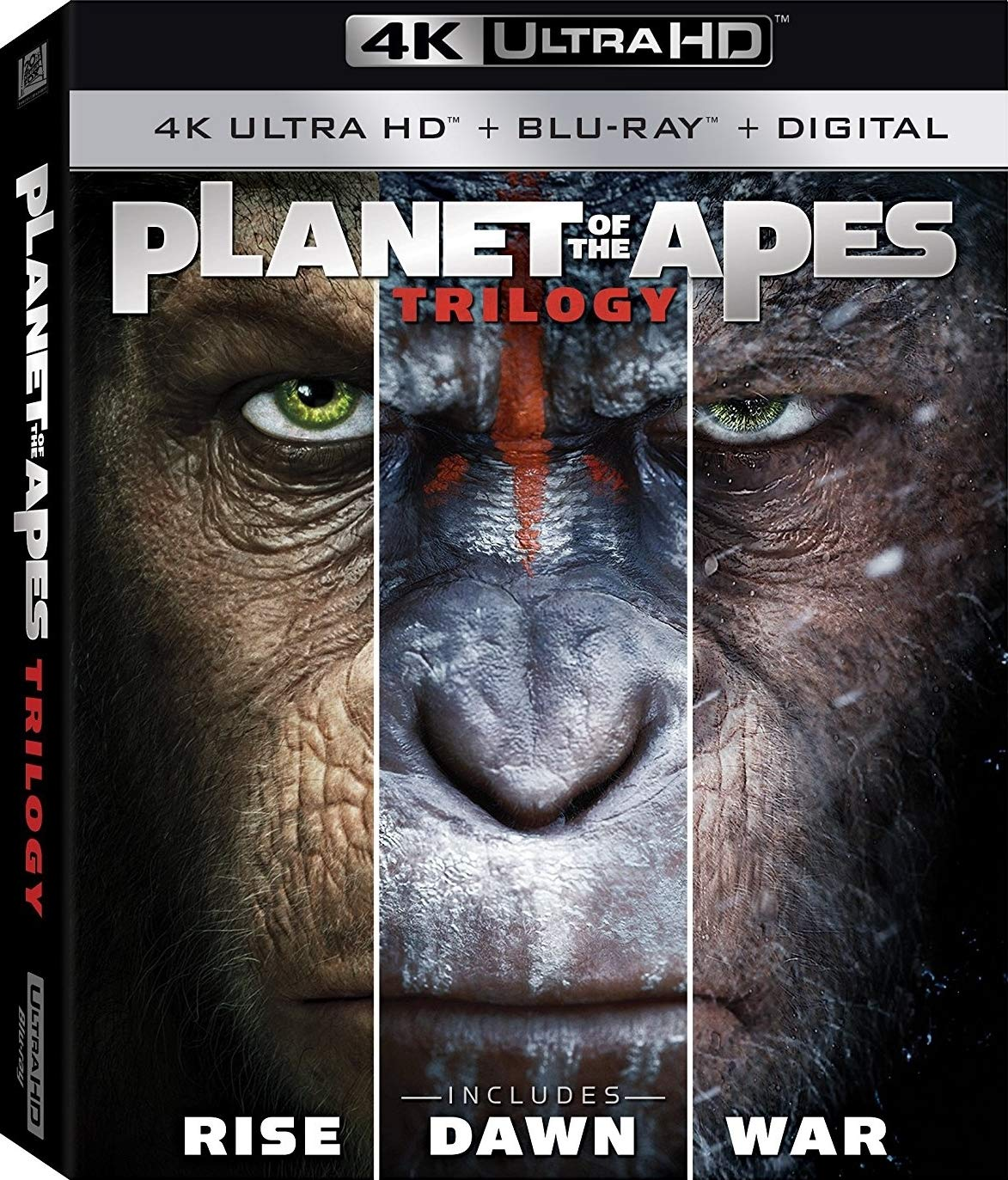 Amazon.in: Buy Planet of the Apes Trilogy (Uncut) [4K Ultra HD/Blu ...