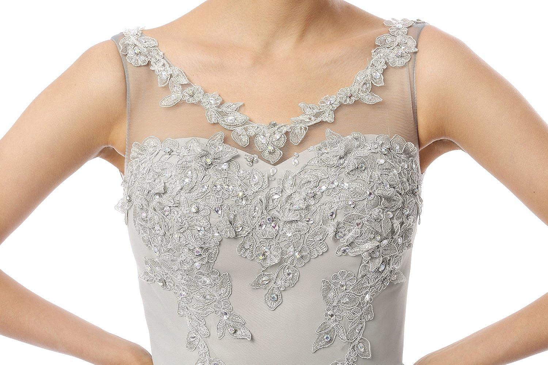 Charmian Women's A-line Chiffon Maxi Prom Homecoming Formal Evening Dresses Grey