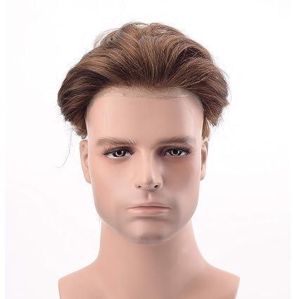 Lordhair 100% Pelo Humano Indio de Piel Fina Estupenda del Reemplazo del Pelo del Color