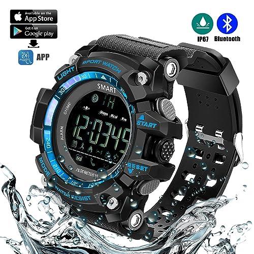 Montre de sport imperméable à l'eau intelligente de Bluetooth avec la plate-forme APP, télécommande de caméra, traqueur de forme physique, podomètre, rappel de message d'appel, rétroéclairage Etc.