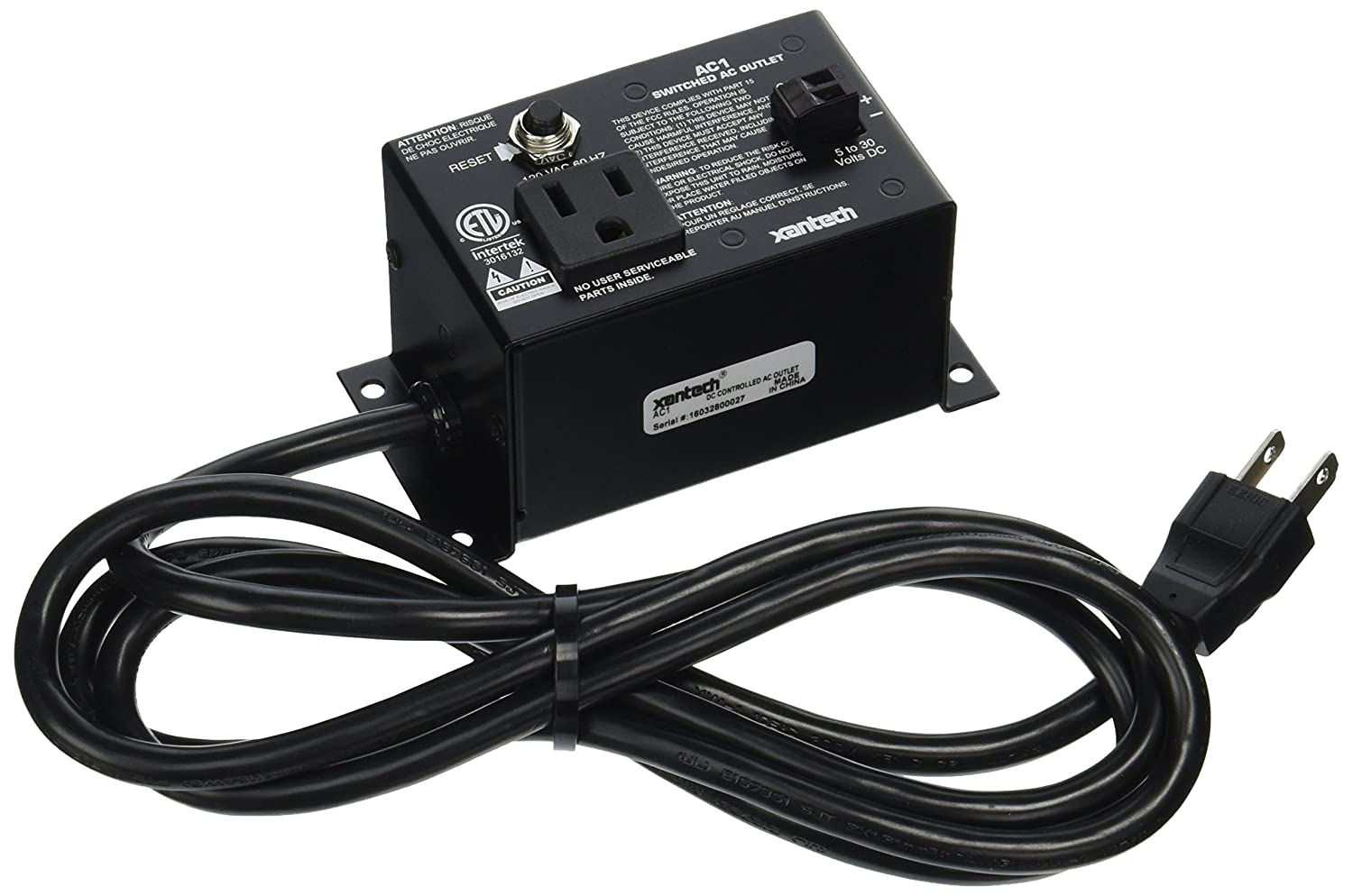 XANTECH AC1 Controlled AC Outlet (Discontinued by Manufacturer) on