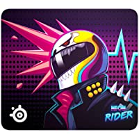 SteelSeries QcK Large Neon Rider Edition Cloth Gaming Mouse Pad - Exclusive Micro-Woven Surface - Optimized for Gaming Sensors - Maximum Control - Size L