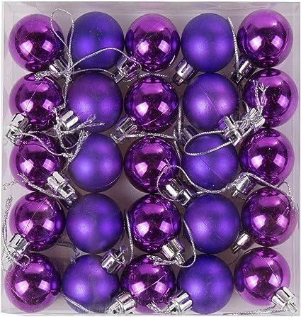 pack of 24 48mm Purple Matt Baubles