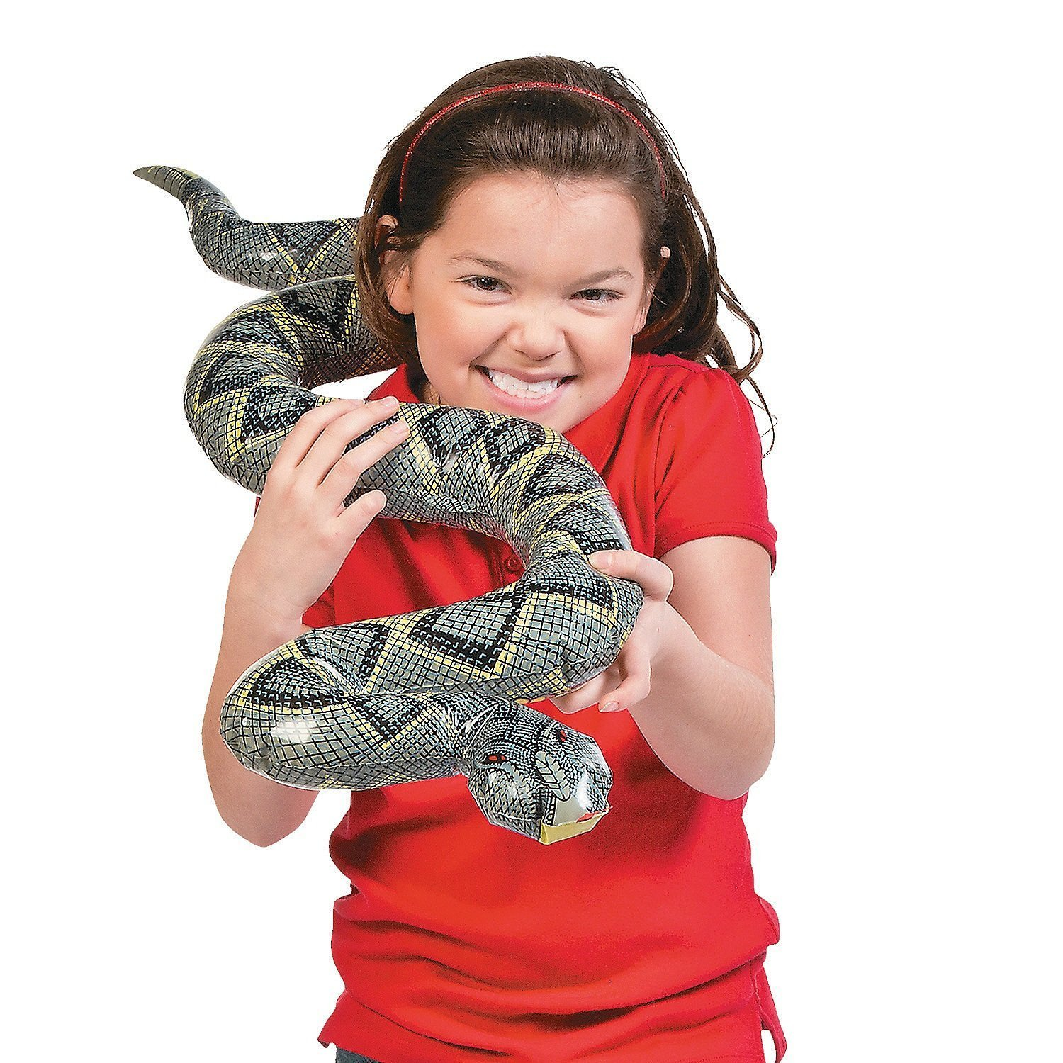 Fun Express Inflatable Snake Toy 38 x 4 Everready First Aid FNEIN-13675186