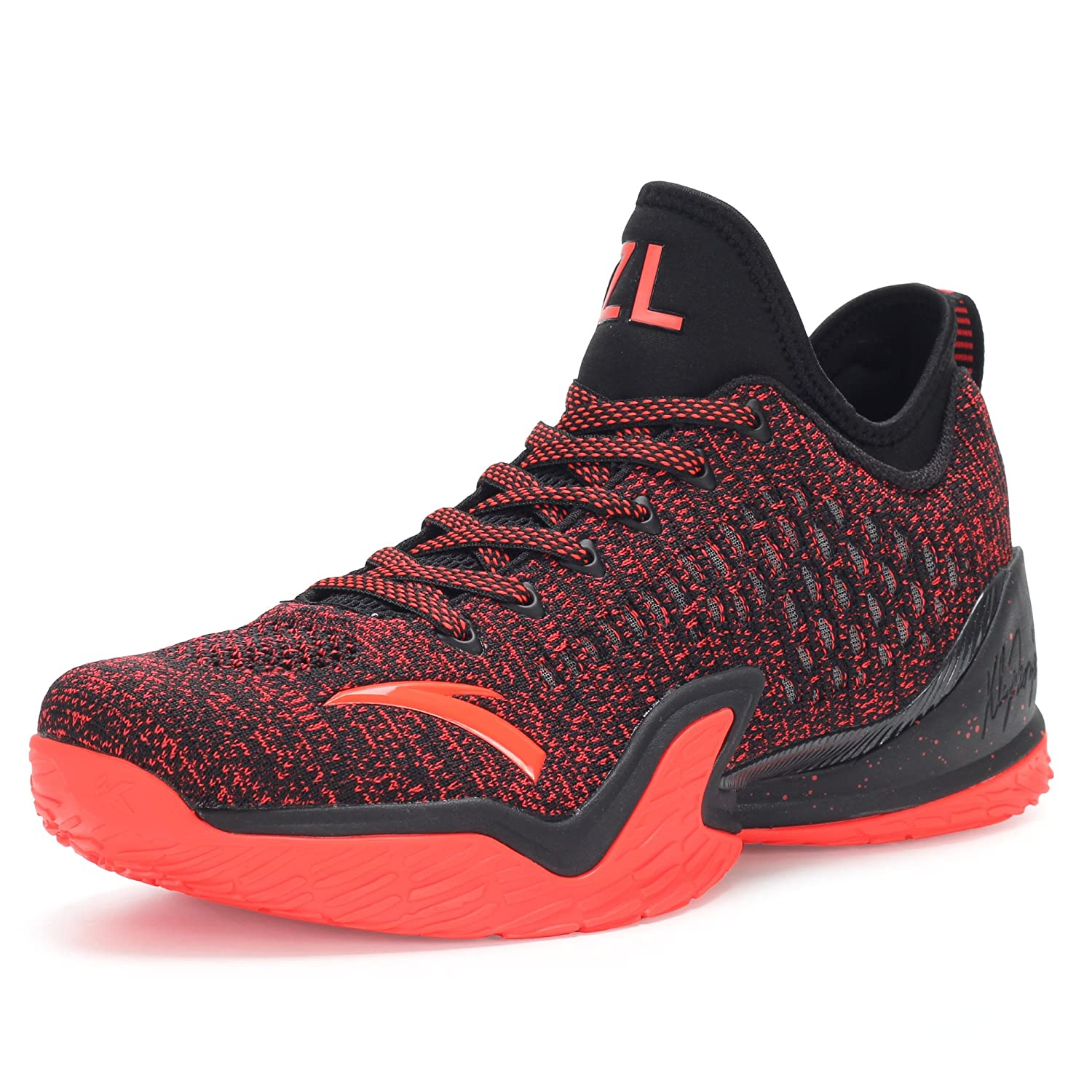 ANTA メンズ KT3 PLAYOFFS B07BJZFW3G 9.5 D(M) US Black/D.ruby