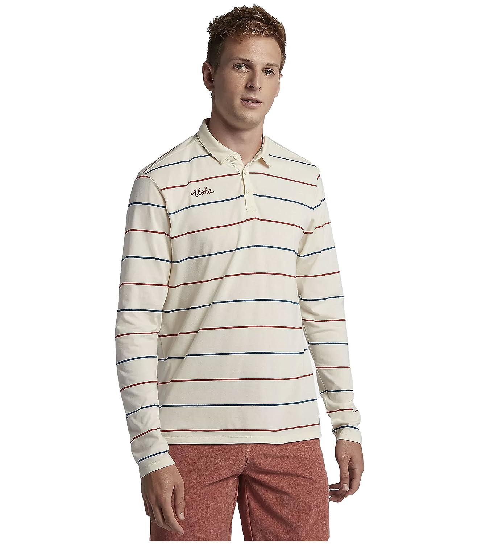 Hurley Men's AJ1798 Channels Polo Long Sleeve Shirt.