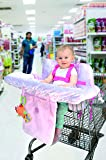 Little Me Baby Shopping Cart Cover and High Chair Cover 2 in 1, Damask