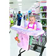 Little Me Baby 2 in 1 Shopping Cart and High Chair Cover, Damask