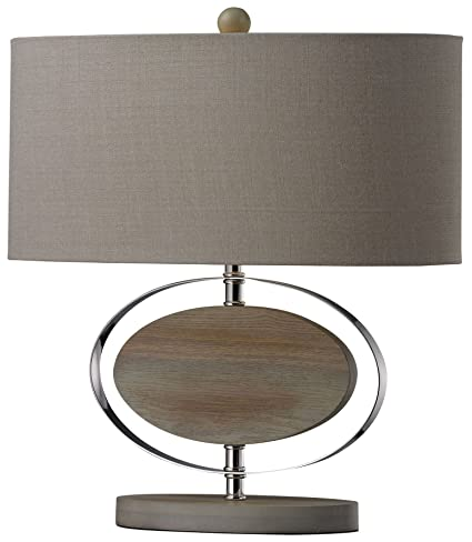 Amazon Com Dimond Lighting Hereford Washed Wood Table Lamp Kitchen
