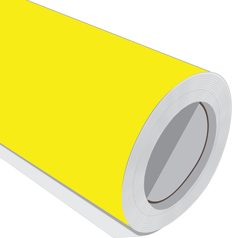 10 Metre (10 m) rollo de HD brillante amarillo brillante 610 mm de ...