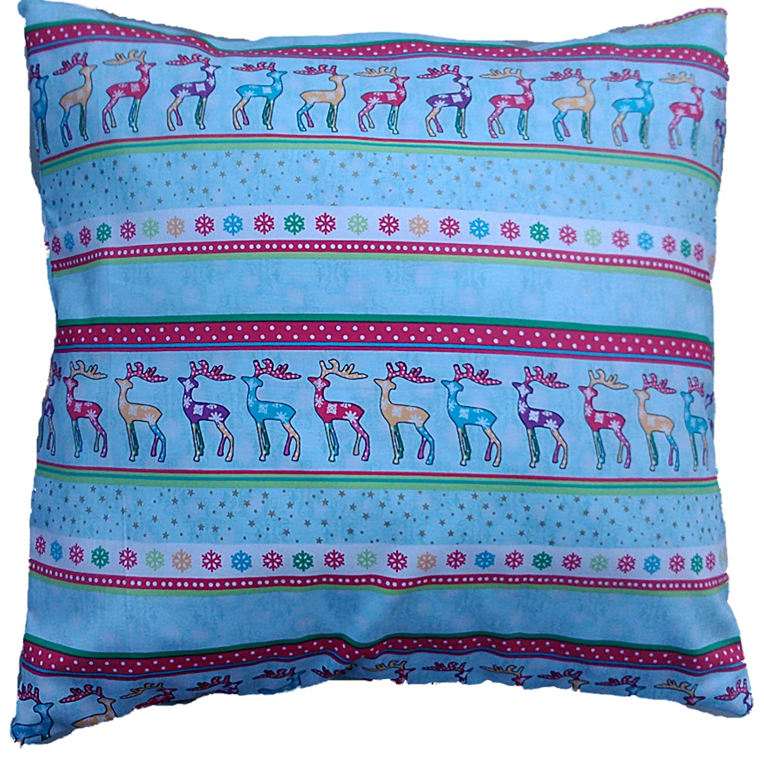 Christmas Snowflake and Reindeers Cushion Cover Size 16' x 16'