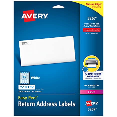Amazon.com: Avery Easy, etiquetas Remitente, fáciles ...