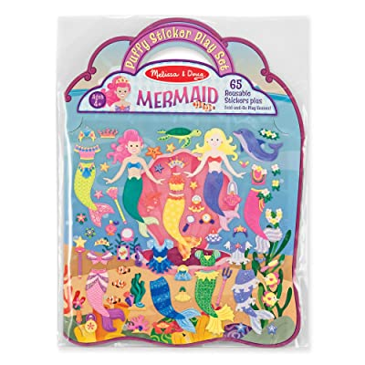 Melissa & Doug Puffy Sticker Play Set - Mermaid: Melissa & Doug: Toys & Games
