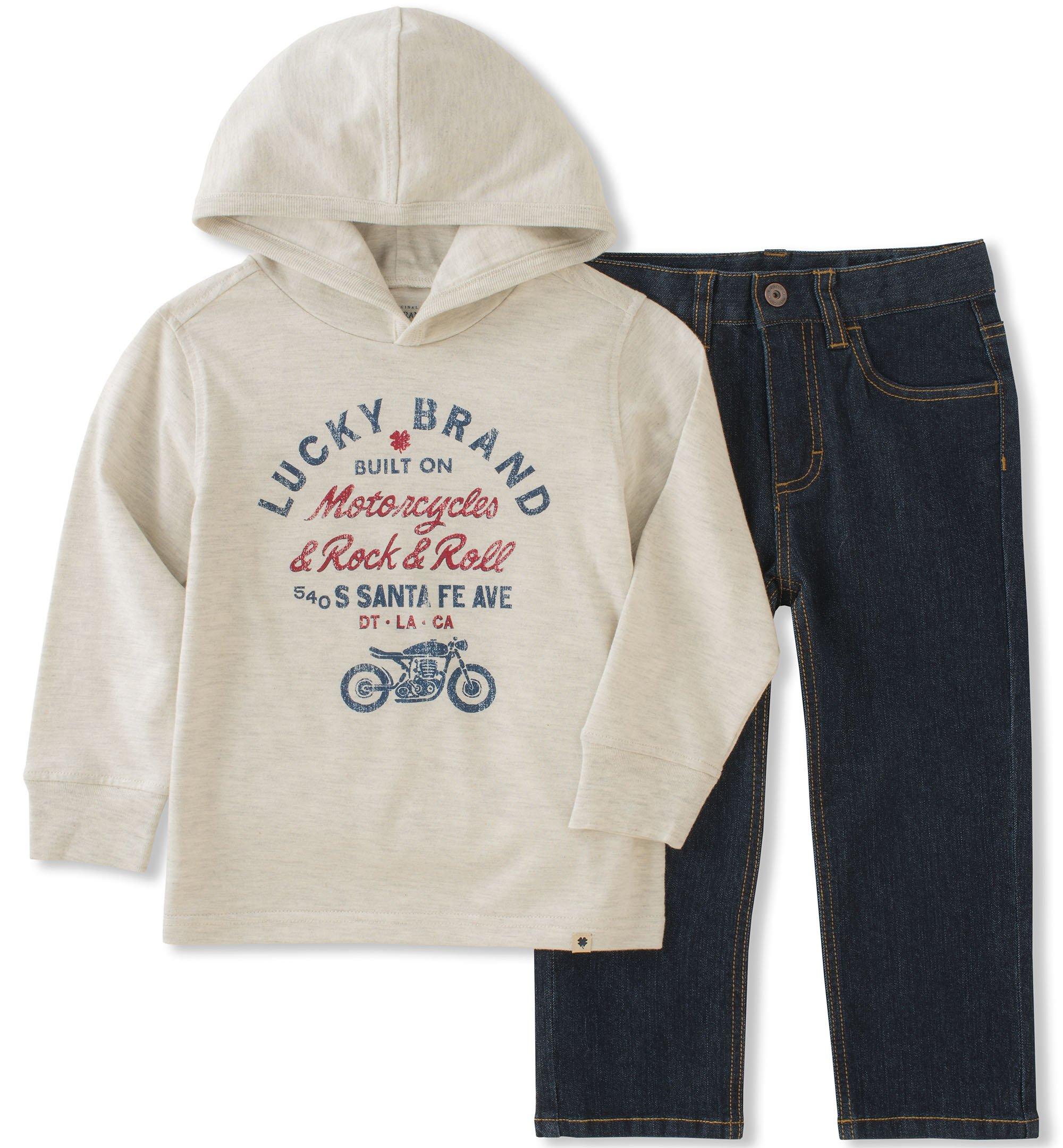 Lucky Brand Boys' Little Pant Set, Farina Heather, 4