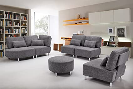 ViscoLogic Alliston   Create Your Own Sectional Sofa (1 Piece Chair, Dark  Grey)