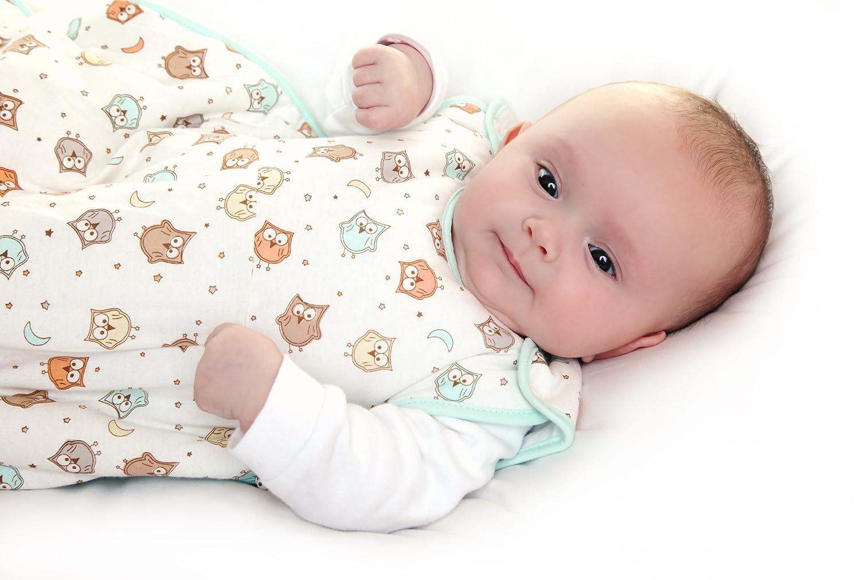 Schlummersack Babyschlafsack Fr/ühjahr//Sommer 1.0 Tog Rosa Neugeborene 56 cm