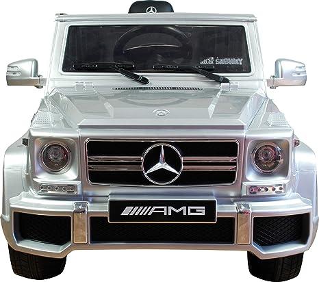 SABWAY® Coche Eléctrico para Niños Mercedes G63 12V con Mando Licencia Oficial - 4x4 Suspensión