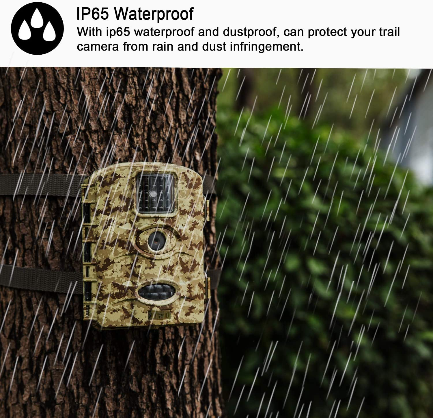 Bestok Trail Game Camera 16MP 1080P Waterproof Hunting Scouting Cam Motion Activated Night Vision 65ft/20m No Glow IR LEDs for Wildlife Monitoring : Sports & Outdoors