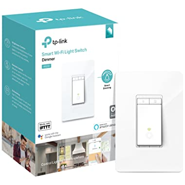 TP-Link HS220 Smart Dimmer Switch, 1-Pack, White