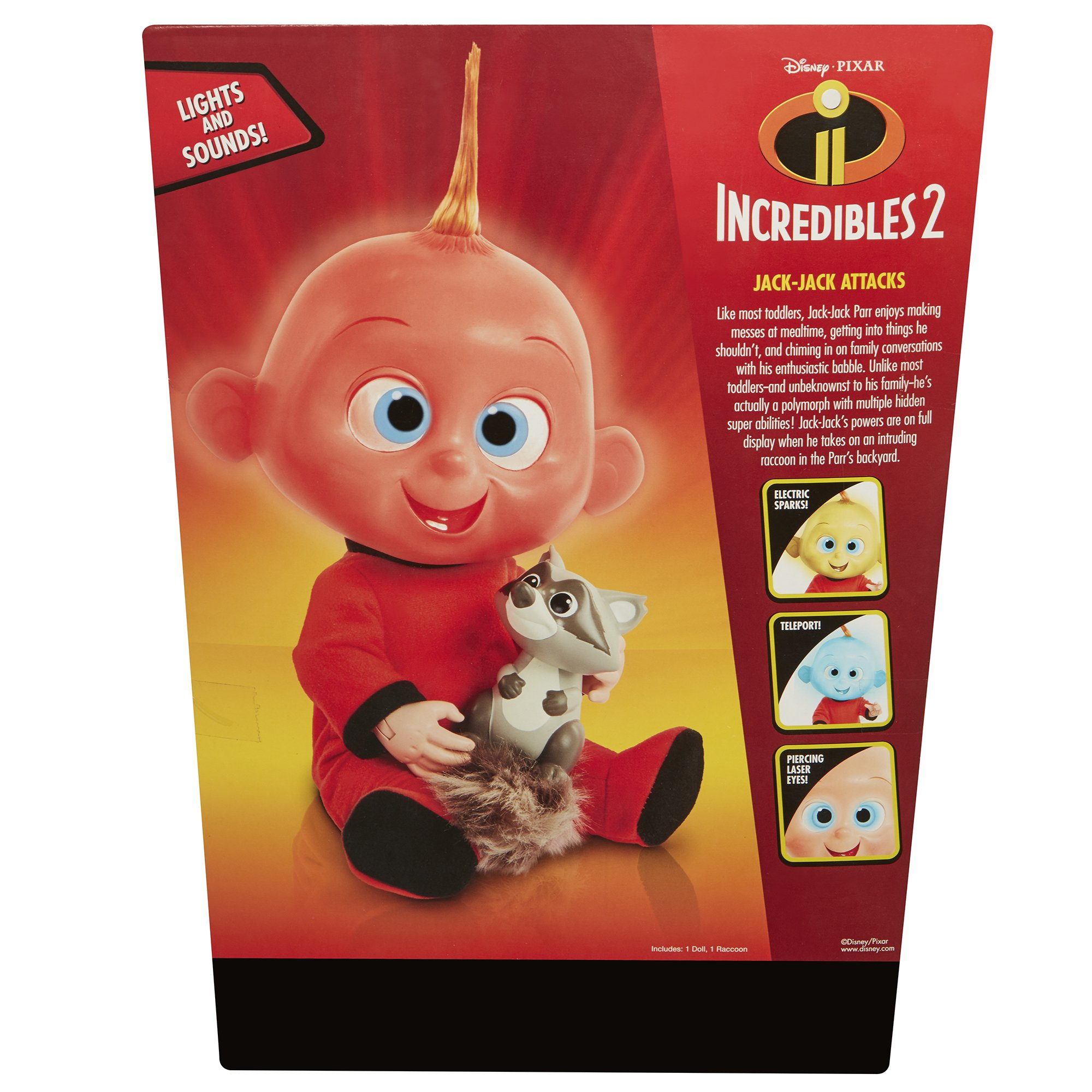 The Incredibles 2 Jack-Jack Plush-Figure Features Lights & Sounds and comes with Raccoon Toy by The Incredibles 2 (Image #10)