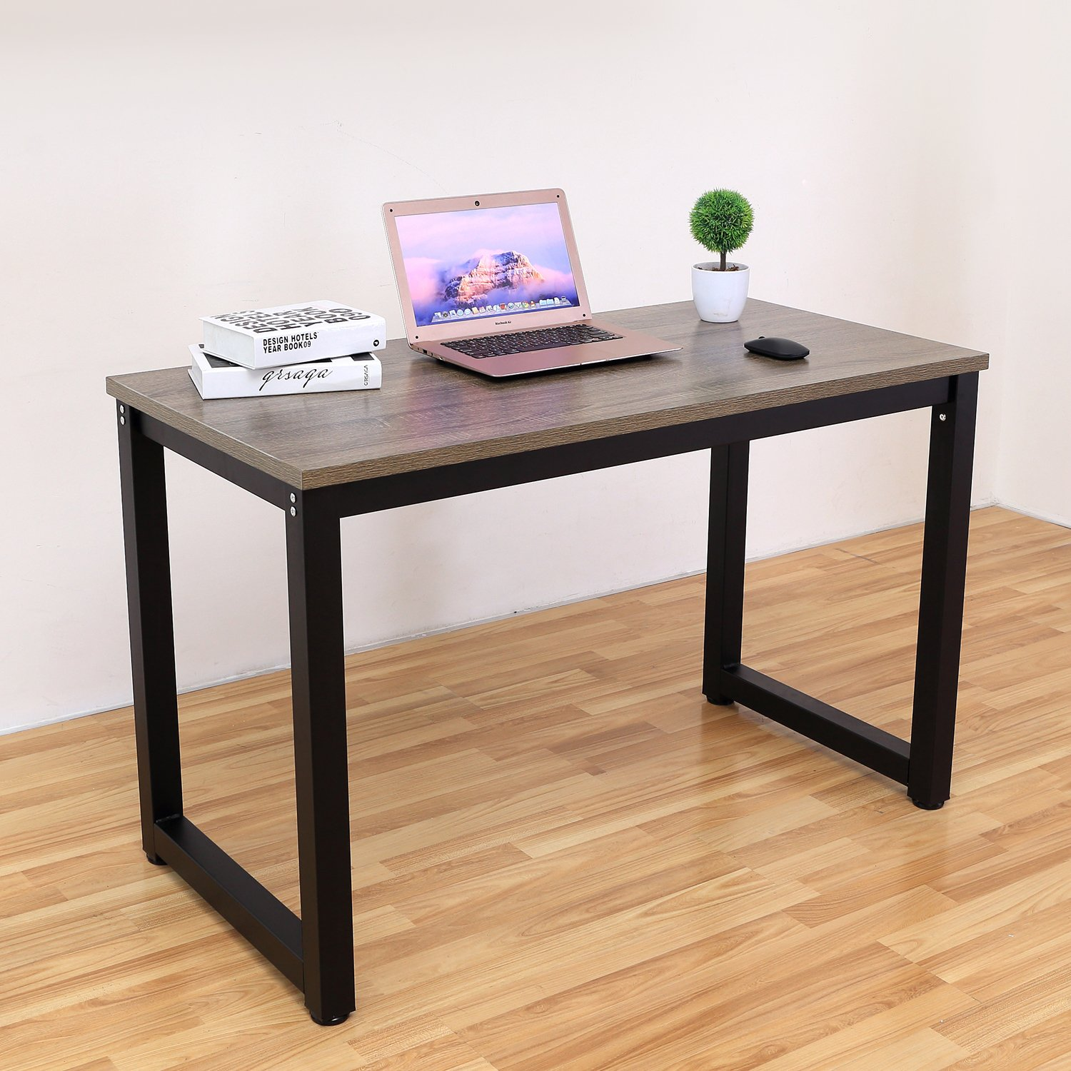 Decho 47'' Modern Simple Style Computer Desk PC Laptop Study Table Workstation for Home Office,(Dark Oak)