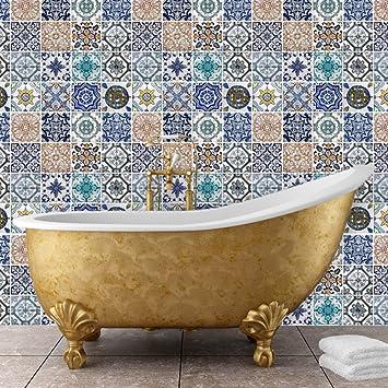 Walplus 54 X 54 Cm Wand Aufkleber Mosaik Fliesen Muster Abnehmbare Wandbild  Kunst Abziehbilder Vinyl Home