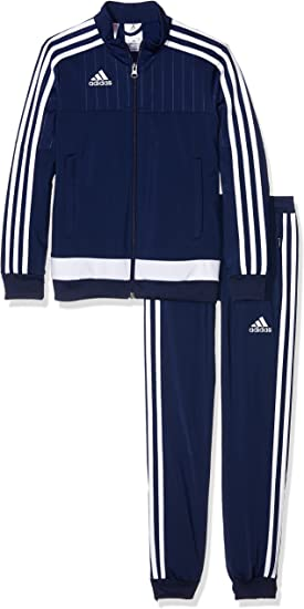 Adidas Tiro 15-Chándal de niño, de poliéster., color - navy - blanc, tamaño 116: Amazon.es: Deportes y aire libre