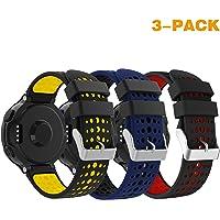 Supore armband voor Garmin Forerunner 235/230/630/220/620/735 - silicone vervanging-horlogebandje horlogebandje instelbare armband vervangbaar wisselarmband horlogeband voor Forerunner 235 WHR loophorloge