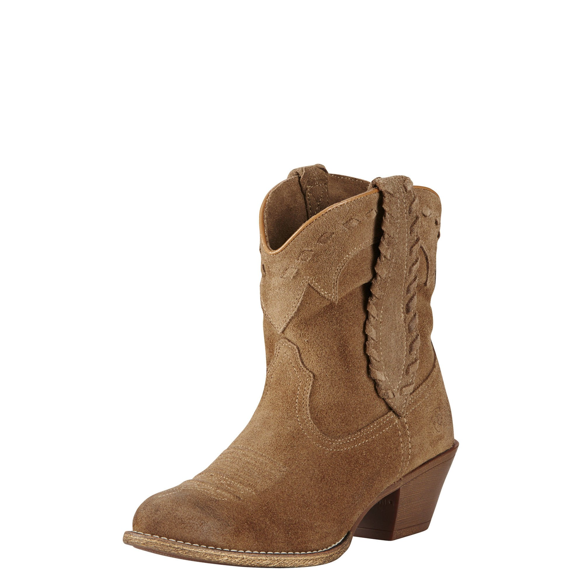 Ariat Women's Round up Rianda Western Cowboy Boot, Relaxed Bark, 6.5 B US