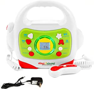 IQ Toys MP3 Karaoke Music Player, with 2 Sing Along Microphones. Stream Music by Bluetooth, MP3 or Micro SD