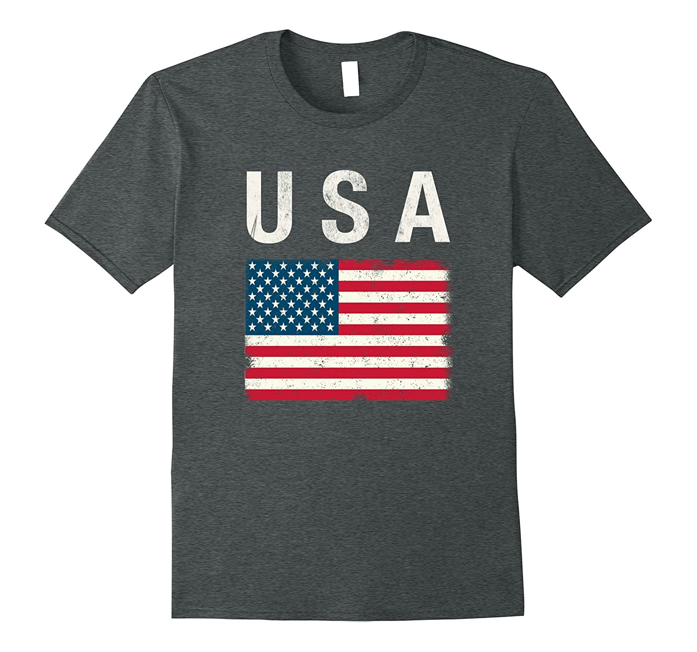 Vintage USA T Shirt Patriotic Red White Blue American Flag-FL
