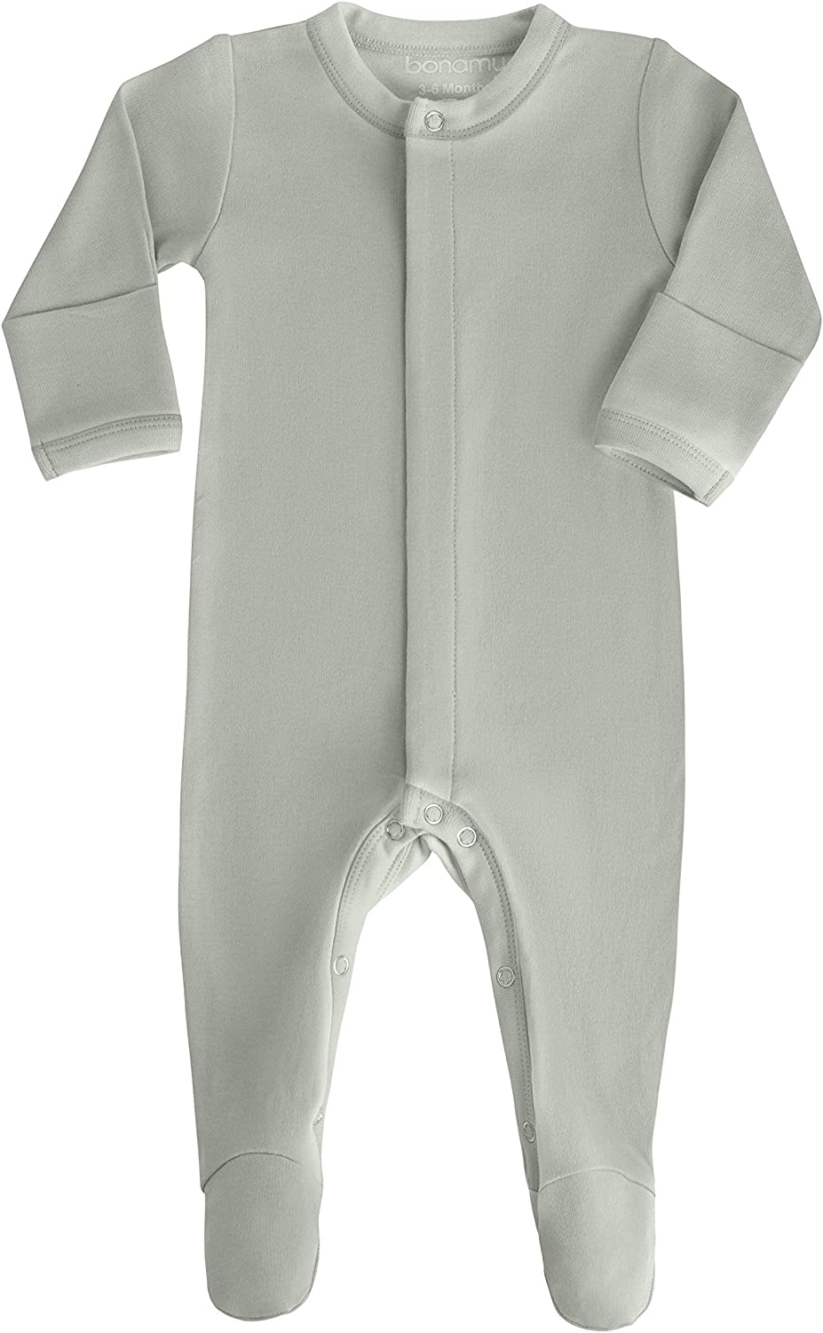 bonamy Baby Unisex Organic Cotton Zipper Footie-Footed Sleep and Play with Mittens