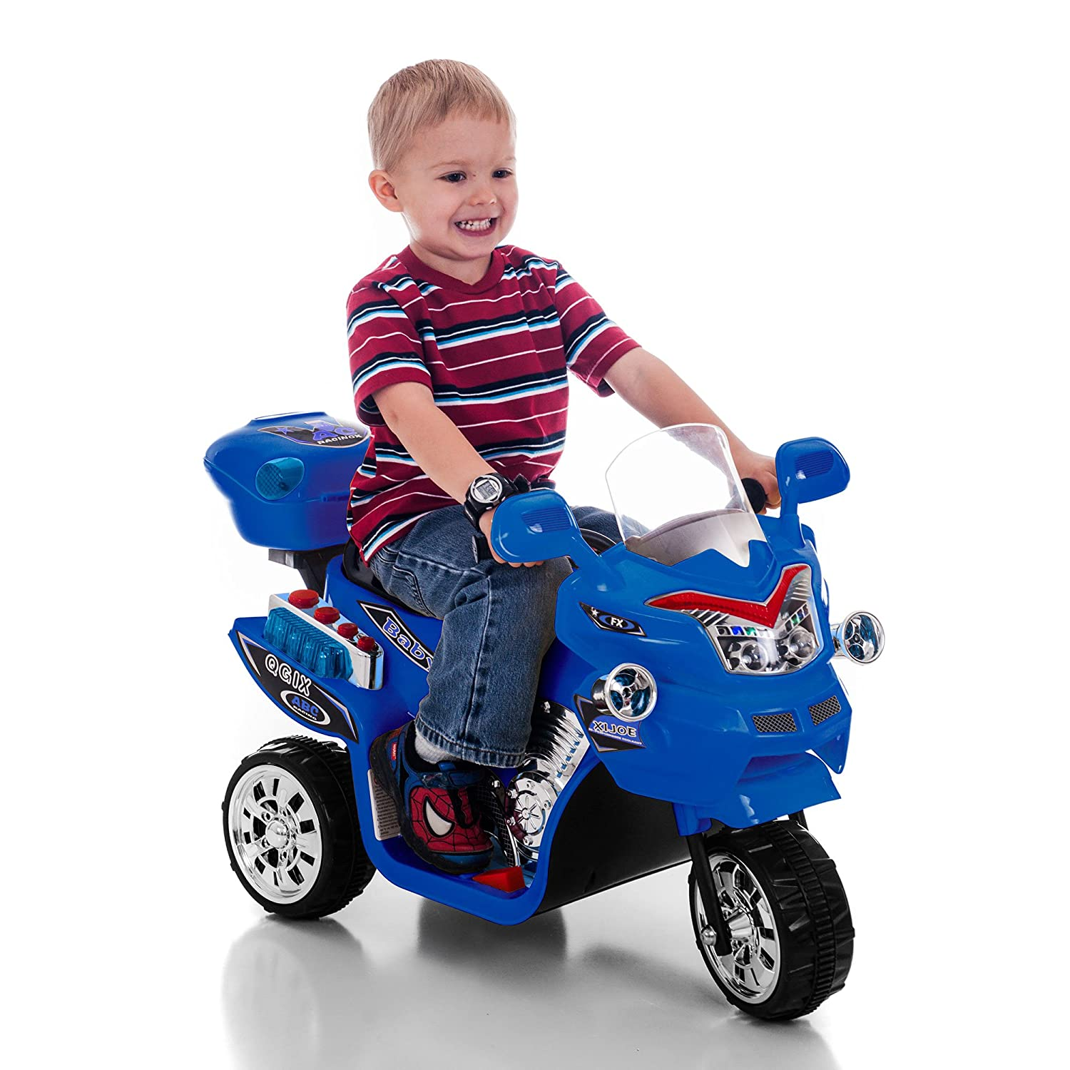 Ride On Toy 3 Wheel Motorcycle For Kids Battery Avigo Electric Scooter Wiring Diagram Powered By Lil Rider Toys Boys And Girls 2 5 Year Old Black
