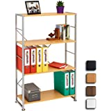 Stylish 4 Shelf Bookcase to Match our Range of Home Office Furniture - Piranha BALLAN PC 12b