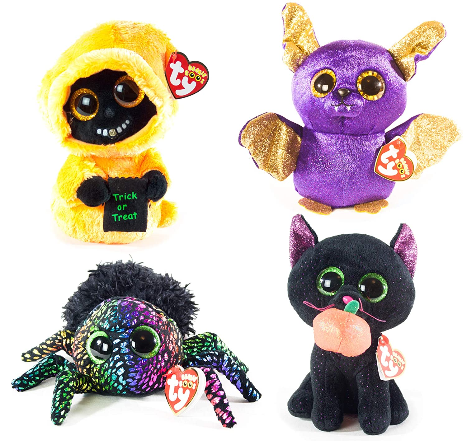 Amazon.com  BEANIE BOOS TY Halloween 2018 Bundle 4 (6 inch) Potion The Cat 787866a3053